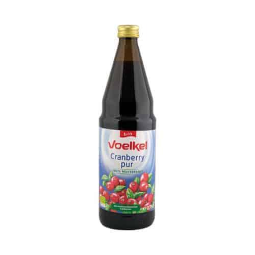 Bottle of Voelkel Organic Cranberry Juice, 750ml