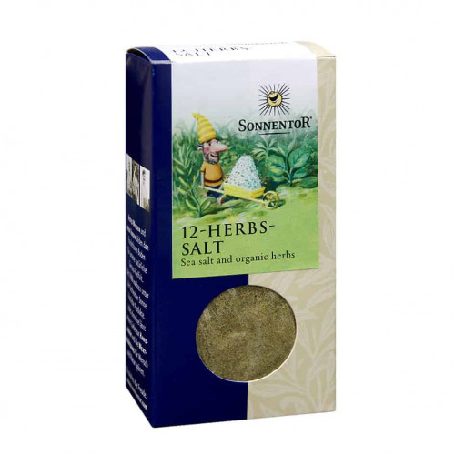 Front view of box of Sonnentor 12-Herbs-Salt, 120g