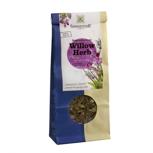 Front view of a packet of Sonnentor Small-Flowered Willow Herb, 50g