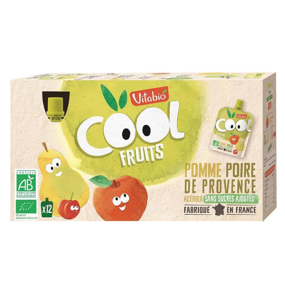 Vitabio Cool Fruit - Apple & Pear Juice, 12 x 90g