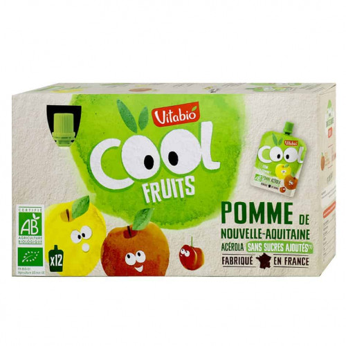 Box of Vitabio Cool Fruit - Apple Juice, 12 x 90g