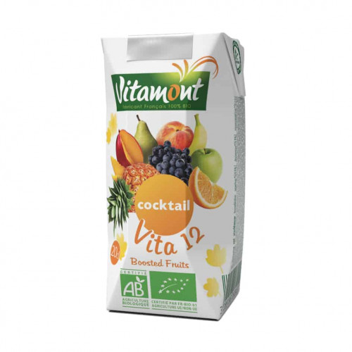 Carton of Vitamont 12 Fruits Cocktail, 200ml