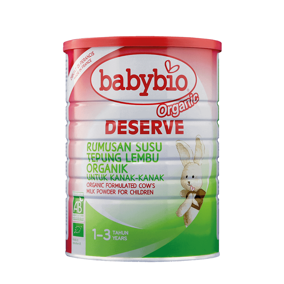 Babybio Organic Deserve Formulated Cow's Milk for Children (1-3 years), 900g