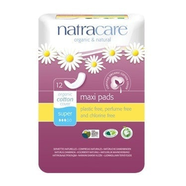 Natracare Natural Maxi Super Pads 12pc