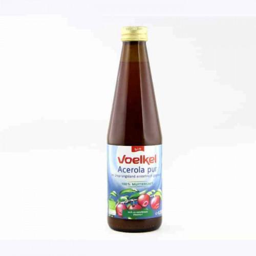 Bottle of Voelkel Organic Acerola Juice, 330ml