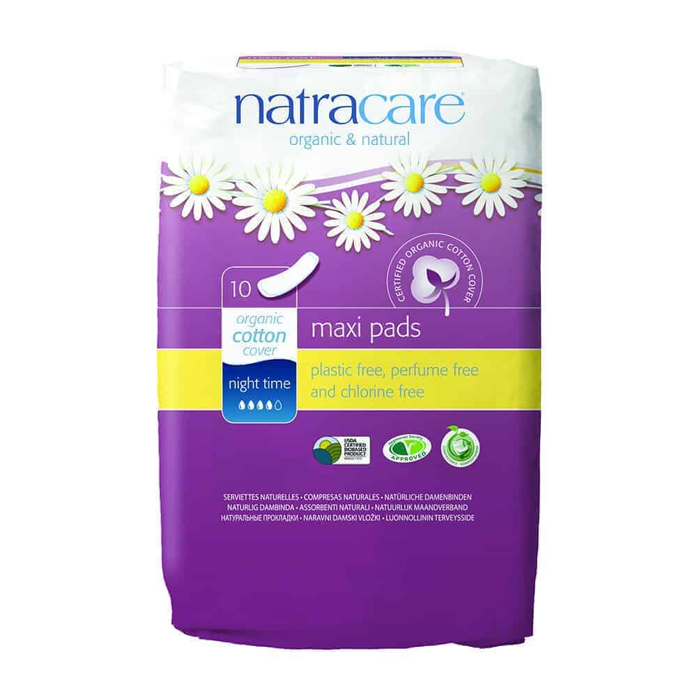 Natracare Maxi Night Time Towels, 10pc