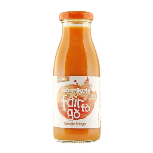 Bottle of Voelkel Fair To Go Juice Carrot Mango, 250ml