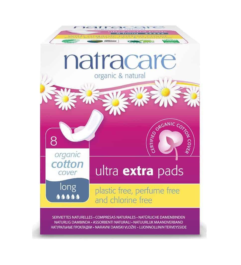 Natracare Ultra Extra Long Pads, 8pcs