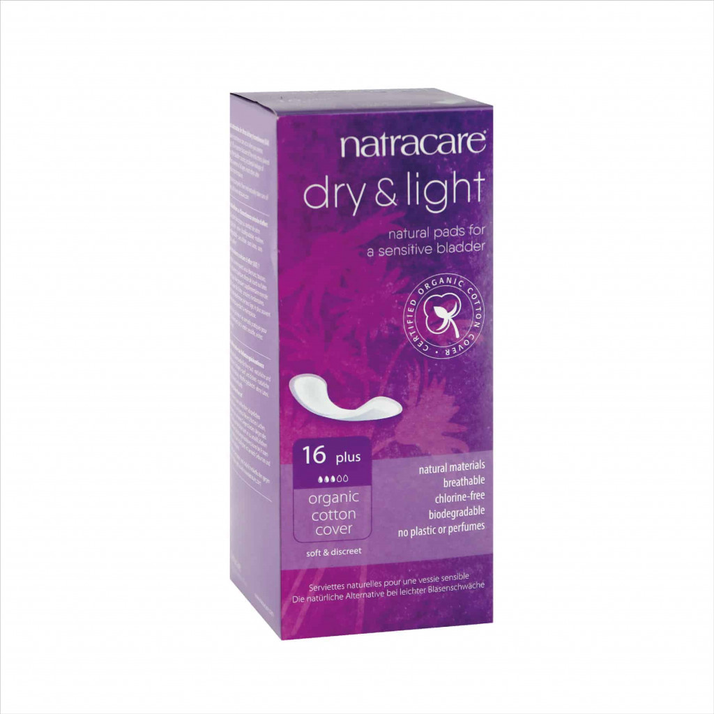 Natracare Natural Dry & Light Incontinence Pads Plus, 16pcs