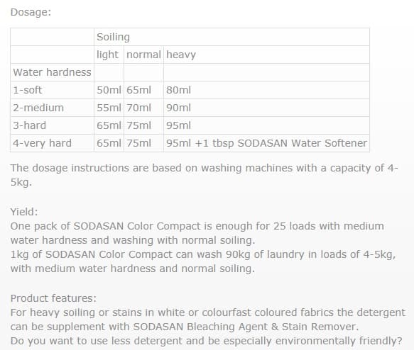Sodasan Color Laundry Powder 1.2KG