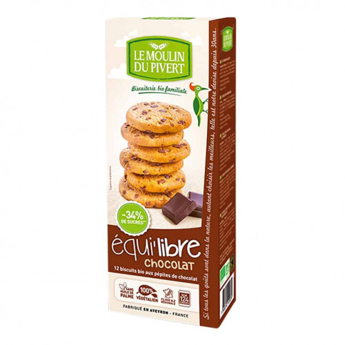 Box of Le Moulin Organic Biscuits With Chocolate Chips, 150g