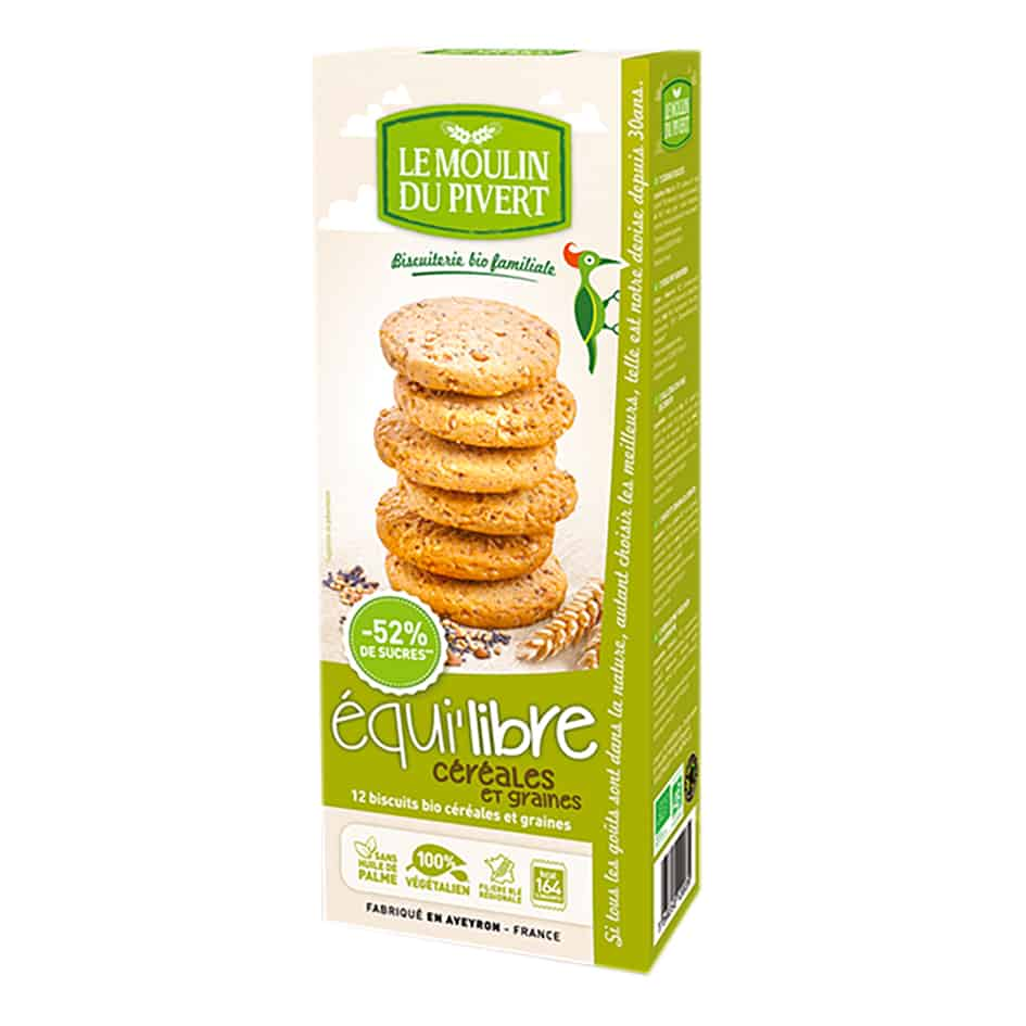 Le Moulin Organic Biscuits with  Cereals & Seeds Biscuits , 150g