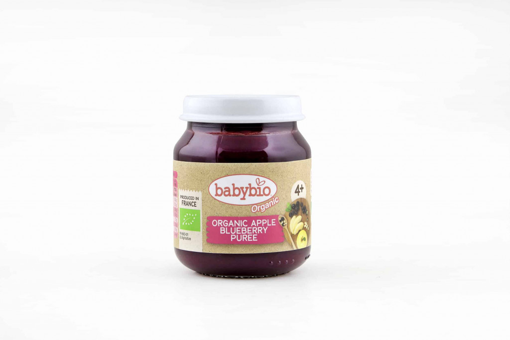 Babybio Organic Apple Blueberry Puree, 130g