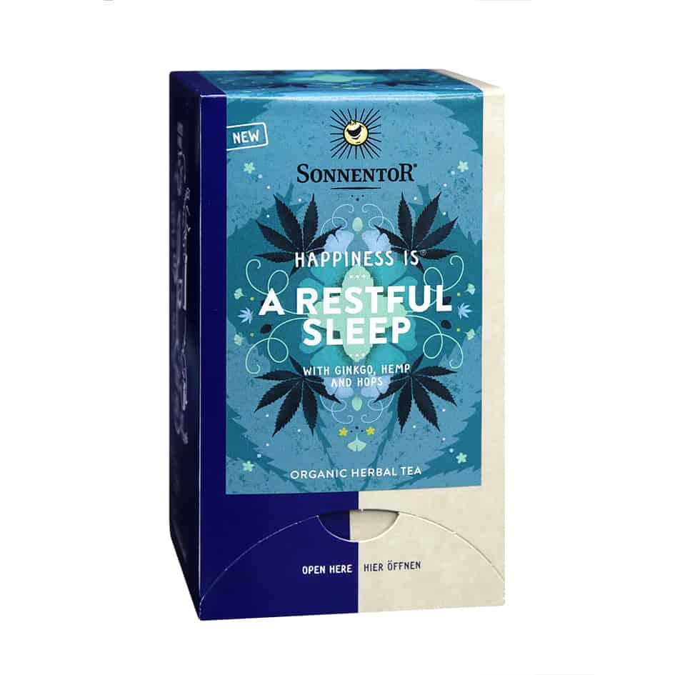 Sonnentor Happiness is… A Restful Sleep Tea Blend, 18 bags