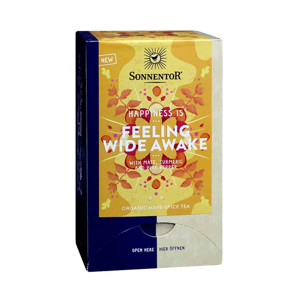 Sonnentor Happiness is… Feeling Wide Awake Tea Blend, 18 bags