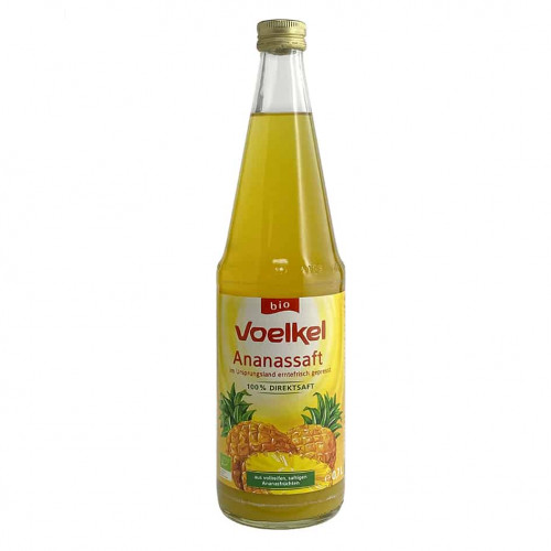 Bottle of Voelkel Organic Pineapple Juice, 700ml