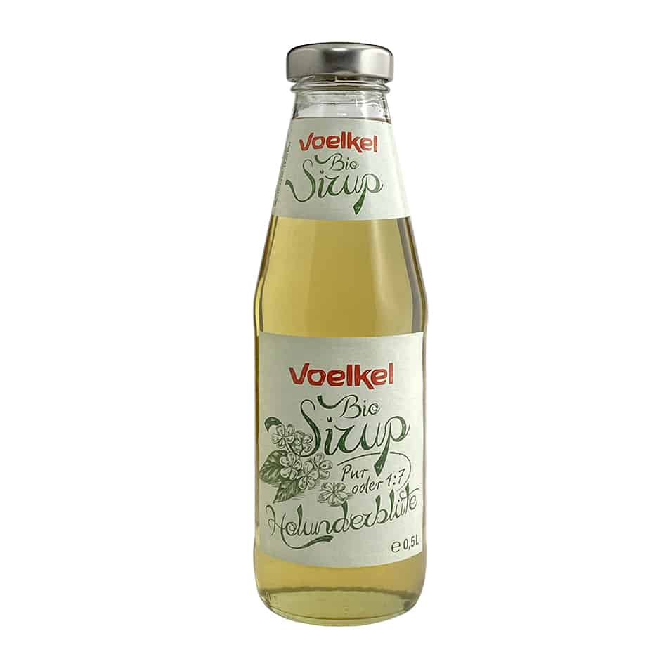 Voelkel Organic Elderflower Syrup, 500ml