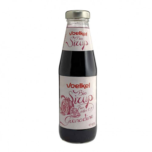 Bottle of Voelkel Organic Pomegranate Syrup, 500ml