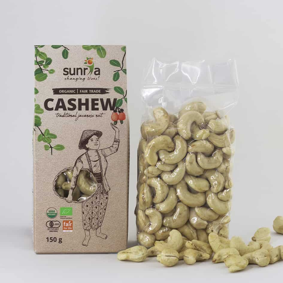 Sunria Organic Cashews, 150g