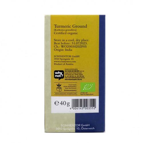 Sonnentor Turmeric powder back