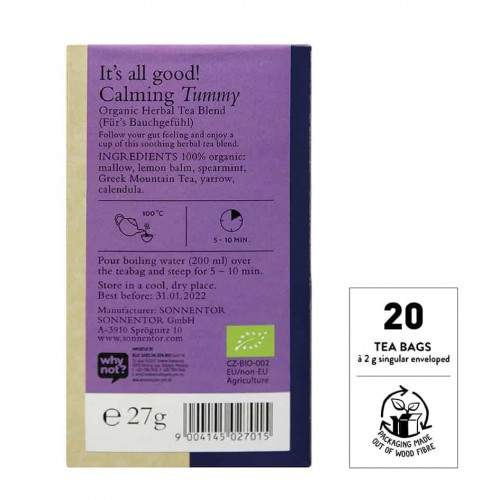 @SNT Tea Bag Blend Calming Tummy bk set