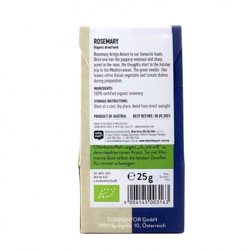 Sonnentor Organic Rosemary bk 25g