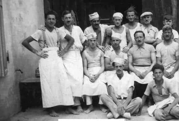Fuchs founder Josef Fuchs I with employees