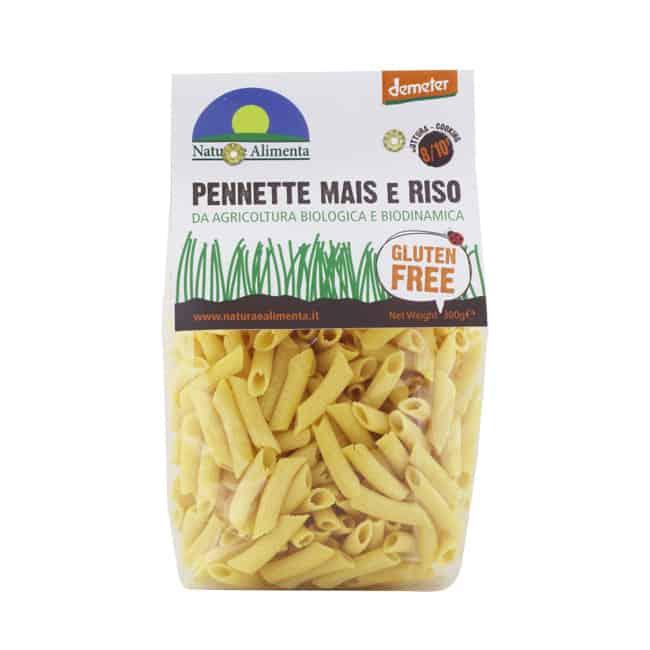 Natura e Alimenta Gluten-Free Corn and Rice Penne Pasta, 300g