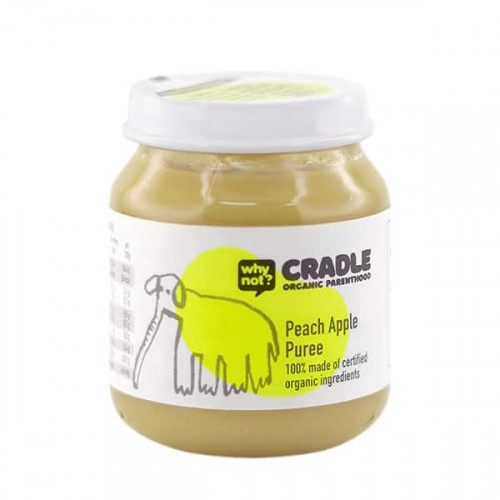 Why Not Cradle Peach Apple Puree 130g
